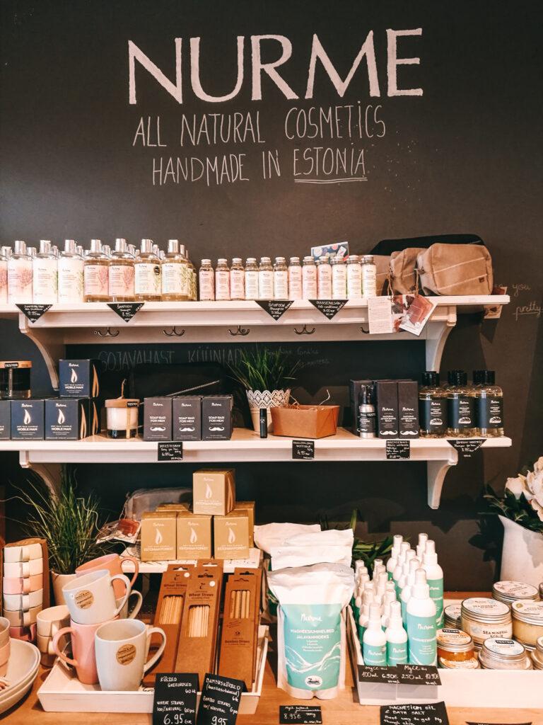 Virolaista kosmetiikkaa myyvä liike Telliskivi Tallinna